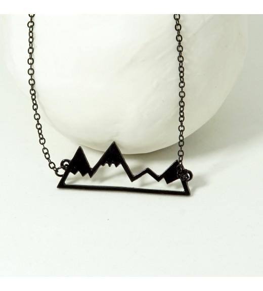 Mountain Peaks  Pandantiv Minimal Black