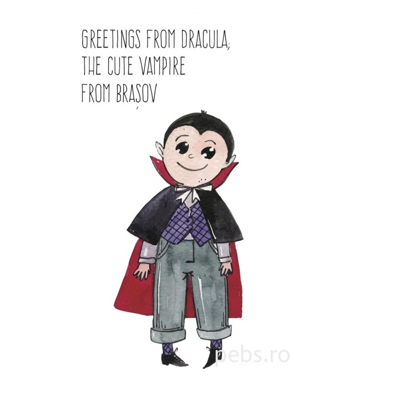 Dracula the Cute Vampire. Felicitare