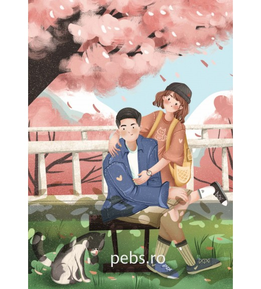 Cherry Blossom Couple