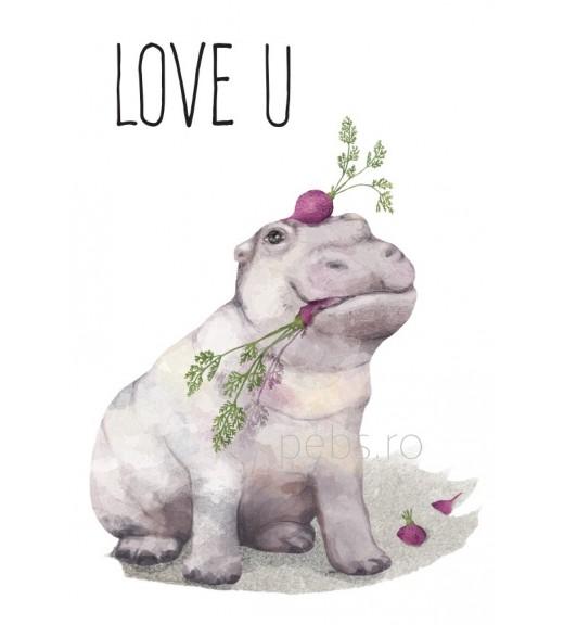 Hippo Love. Felicitare