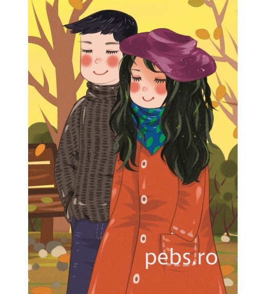 Autumn Couple. Gift card