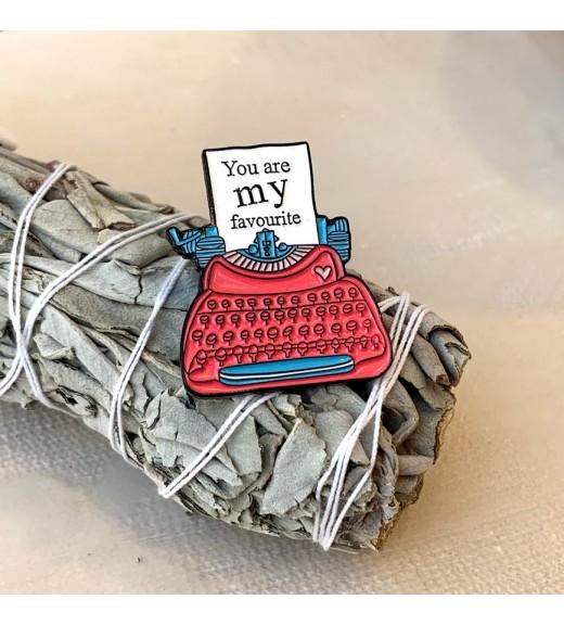 Pin You are My Favorite. Typewriter imagine
