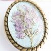 Broșă cu Flori de Câmp - Pearl Blue imagine