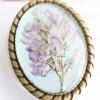Wild Flowers Brooch - Pearl Blue