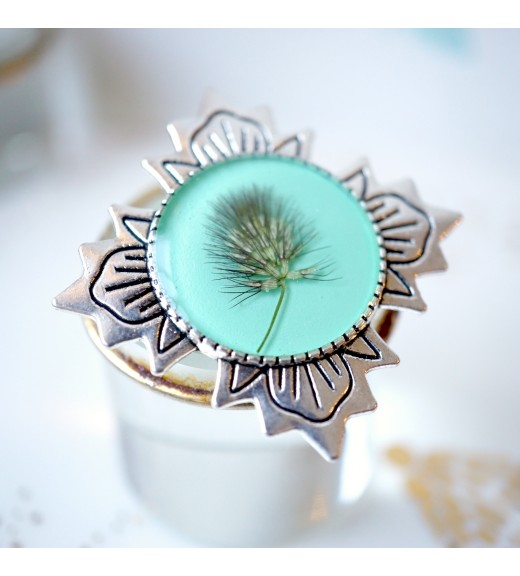 Brooch - Beautiful Grass. Turquoise