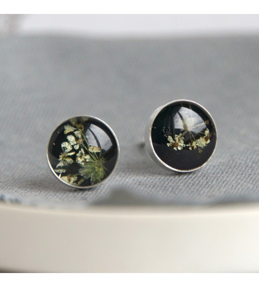 5ac4585f8 Unique Pebs jewelry, 925 sterling silver earrings with real Daucus ...