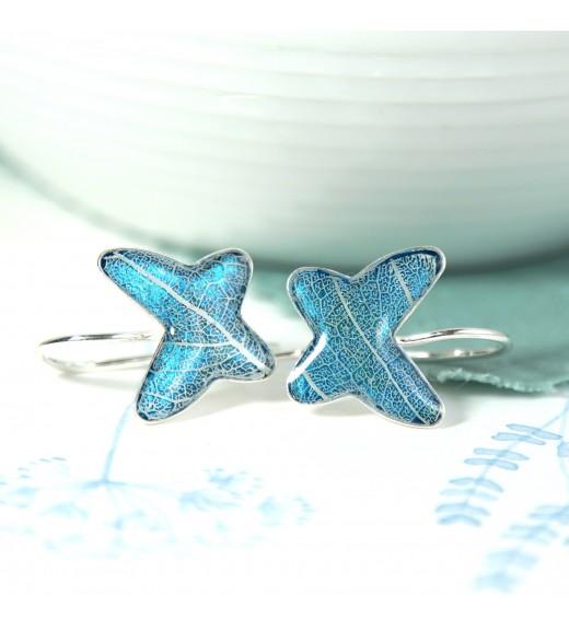 Tilia tomentosa - Silver Linden Veins. Pealry Blue Butterflies