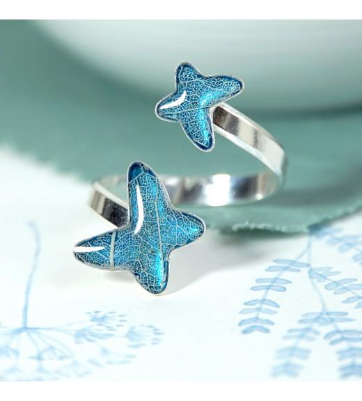 Tilia tomentosa - Nervuri Tei Argintiu. Inel Fluturi Albastru Sidef