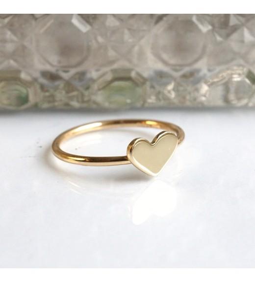 Heart. Inel aur 14k imagine