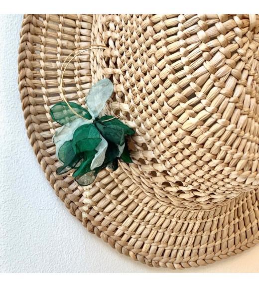 Shades of Green Silk Earrings