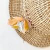 Pastel Colorful Petals Silk Earrings