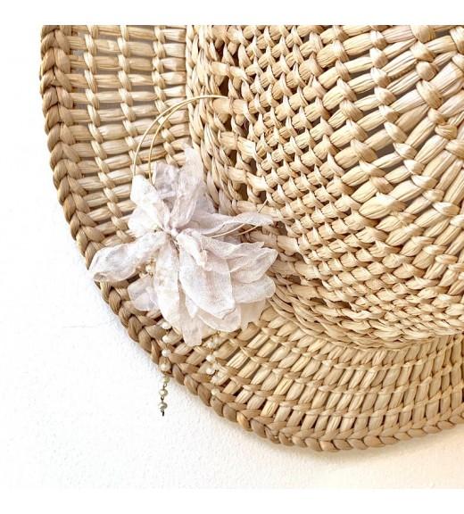White Petals Silk Earrings