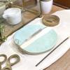 Suport Bețigaș Parfumat Ceramic Half Pearl Mint imagine