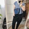 Zala Maxi Blue Velvet Fany Pack