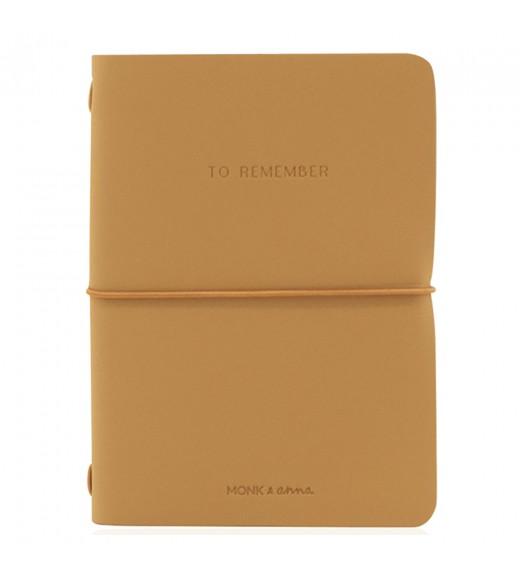 Notebook Piele Vegană 'To Remember'  - Cashew imagine
