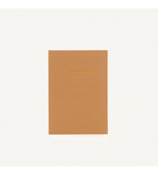 Linen Notebook 'To Remember'  - Cashew